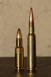 30br til venstre, 6,5x55 til høyre. Arild testa med 110gr Berger og N130 krutt.